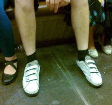 Как не надо одевать носки