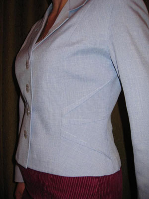 Пиджак вставки на поясе